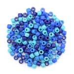 Pony Beads Blue Mix - 200pc