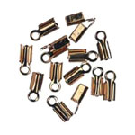 Endcap Connectors 10mm x 4mm - Gold - 22pc