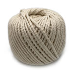 Cotton Macrame Cord - Natural 4mm x 100 metres