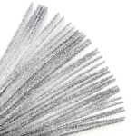 Chenille Stems Silver (35pc) - 12