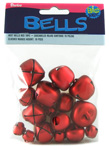 Jingle Bells - Red - Assorted Sizes - 19pc