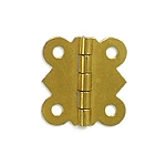 Brass Plated Hinge - 1 1/4