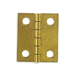 Brass Plated Hinge - 1 1/2