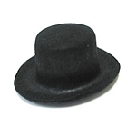 Black Felt Top Hat - 3 1/4