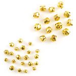 Jingle Bells - Assorted (8-15mm) Gold - 35pc
