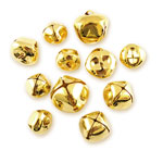 Jingle Bells - Assorted (20-30mm) Gold - 11pc