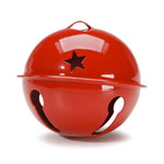 Jingle Bell with Stars - Red - 2 3/4