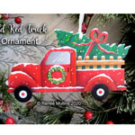 Renee Mullins Packet - Old Red Truck Ornament