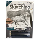 Sketching Made Easy Kit - Horses Running Free