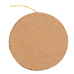 Paper Mache Flat Circle Ornament - 1/2