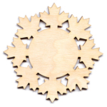 Maple Leaf Snowflake - 2""