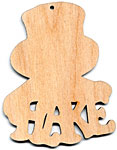 Christmastime Snowman Ornament - Flake (retired shape)