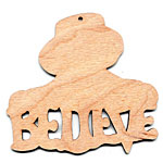 Christmastime Snowman Ornament - Believe (retired shape)