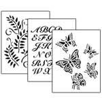 Stencil 3pc Value Pack - Garden - 7