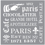 Stencil - French Elements - 8