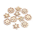 Laser-Cut Ornate Flower Cutout Assortment - 50pc