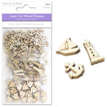 Wood Minis 3 Assorted Shapes - Nautical