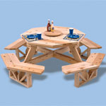 Plan-Octagon Picnic Table (50