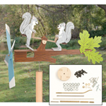 Plan-Teetering Squirrels Whirligig with Parts Kit