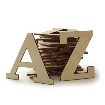 "26pc Set of 2"" tall Serif Font Letters"