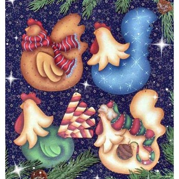 Cyndi Combs Packet - More Funky Christmas Chickens
