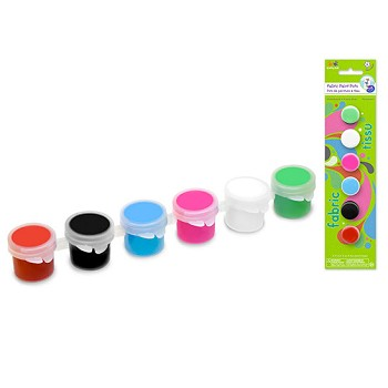 Lil' Artists Paint Pots 6pc - Fabric Paint