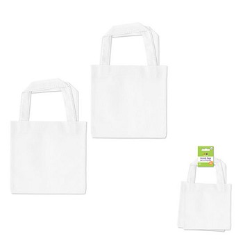 "Canvas Goody Bags (2pc) - 6"" x 6"" White"