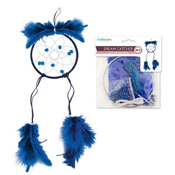 "Dream Catcher Kit - 4 5/8"" Circle - Blue"