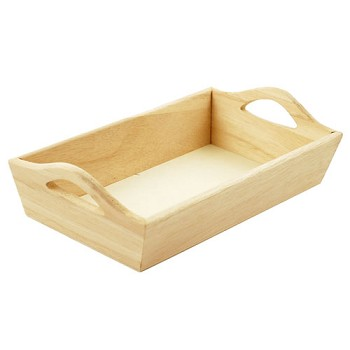 Wood Tray with Handles - 8""