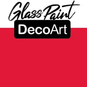 DecoArt Glass Paint - Red 2oz