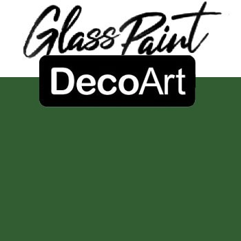 DecoArt Glass Paint - Green 2oz
