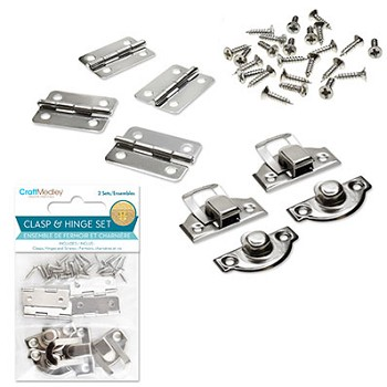 Clasp & Hinge Set #1 - Silver