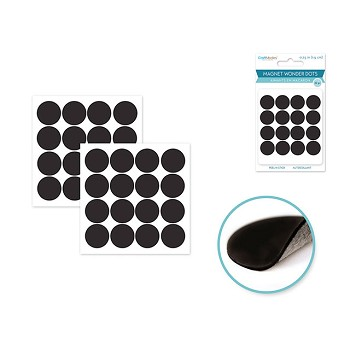 "Magnet Wonder Dots - 1/2"" Peel-n-Stick - 48pc"