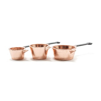 Miniature - Copper Pots 3pc