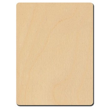"Rectangle with Rounded Corners - 3"" x 4"""