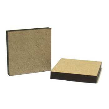 "Square - 2 wide x 1/4"" thick MDF"