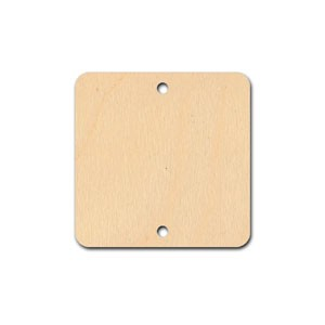 "Tile - 1 1/4"" - Square with 2 holes"