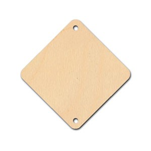 "Tile - 1 1/4"" - Diamond with 2 holes"