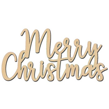 "Merry Christmas Sign - 6"" x 3"""