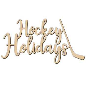 "Hockey Holidays Sign - 10"" x 5 3/8"""