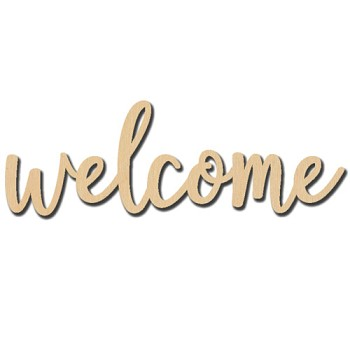 "Welcome Sign - 8"" x 2 3/4"""
