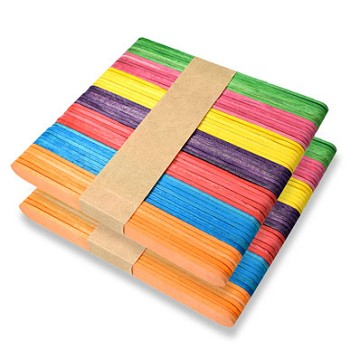 "Craft Sticks Coloured - 4 1/2"" x 3/8"" - 100pc"