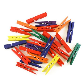 "Clothespins - 1 7/8"" Colored - 24pc"