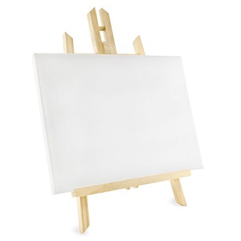 "Stretched Canvas with Easel - 9"" x 12"""