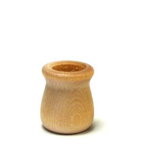 "Candle Cup - 1 1/4"" tall - 5/8"" hole"