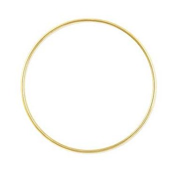 "Metal Ring - 6"" Brass"