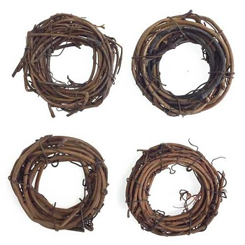 Grapevine Wreath (4pc) - 2""