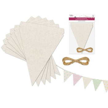 "Canvas Triangle Pennants 5"" x 6"" - 6pc"