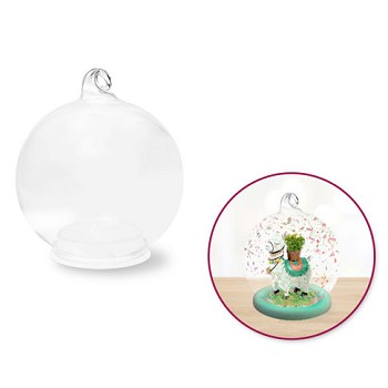 Clear Glass Globe w/Removable Base - 3""