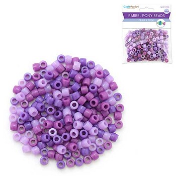 Pony Beads Purple Mix - 200pc